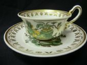 SOLD SPODE Etruscan cup & saucer - serpent handle.
